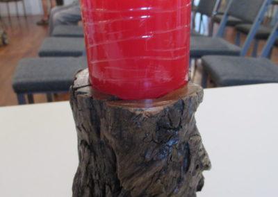 Swamp Kauri candle holder - Barry Harding
